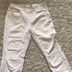 Diane Tillman white crop jeans L